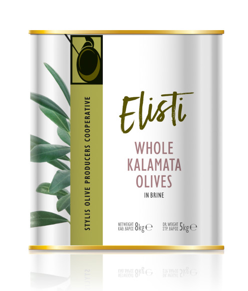Kalamata olives in tin 8lt
