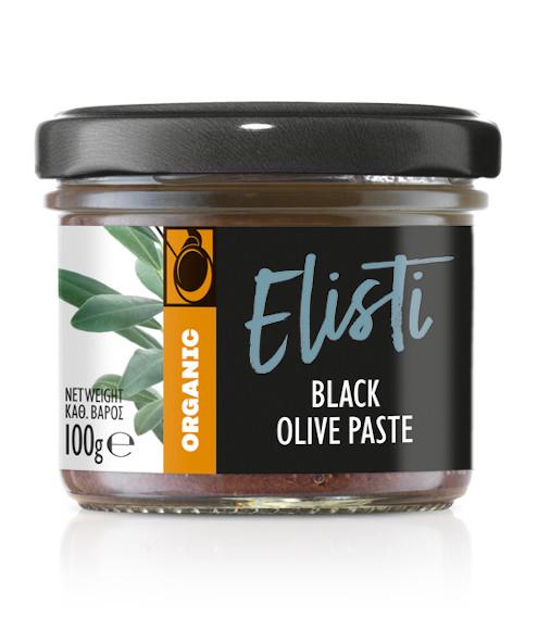 Organic black olive paste
