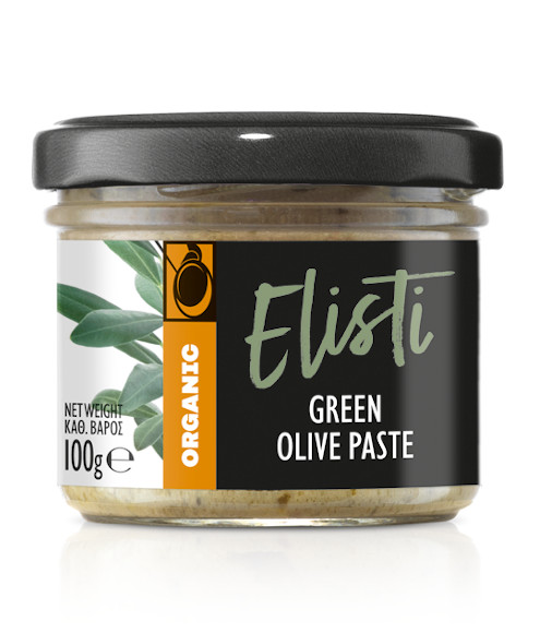 Organic green olive paste